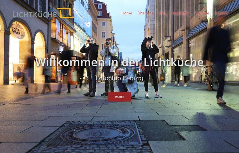 Die neue Startseite der Lichtkueche Homepage